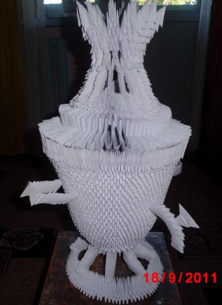 Модульное оригами самовар схема фото 575