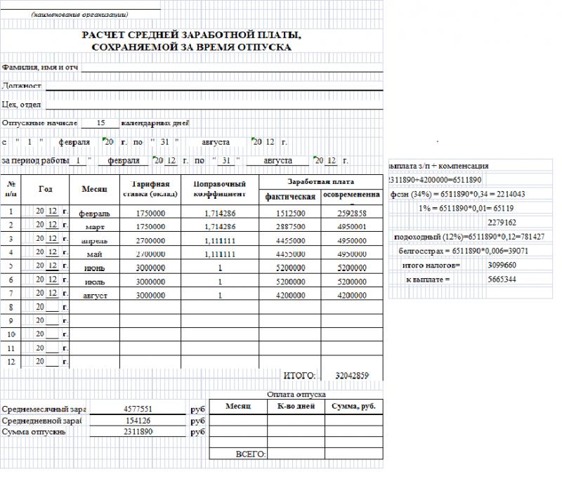 Все документы на увольнении хранятся на личной странице сотрудника: приказ об увольнении, справка-расчет по форме
